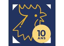 Fabrication Française garantie 10 ans